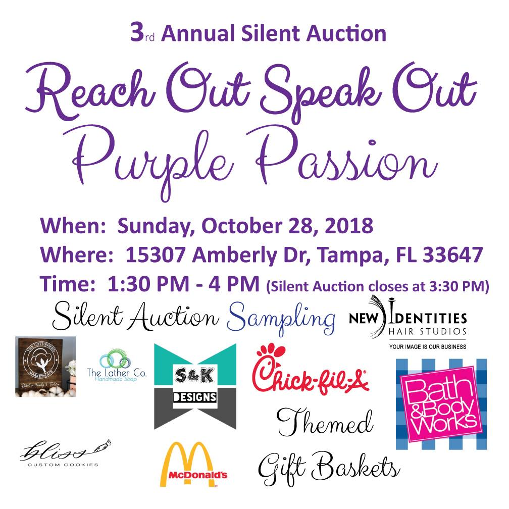 Reach Out Speak Out Purple Passion Silent Auction